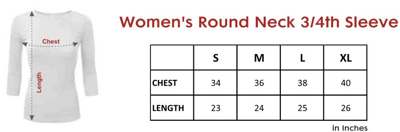 womens-34-sleeve- tshirt-size-chart